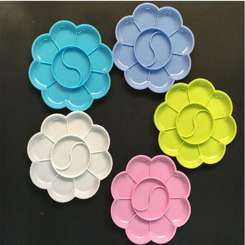 8 سنتيمتر البلاستيك الطلاء لوحة 5 لون الفن أدوات الحرفية المواد اللوحة لوازم الرسم لعب أدوات رياض الأطفال
