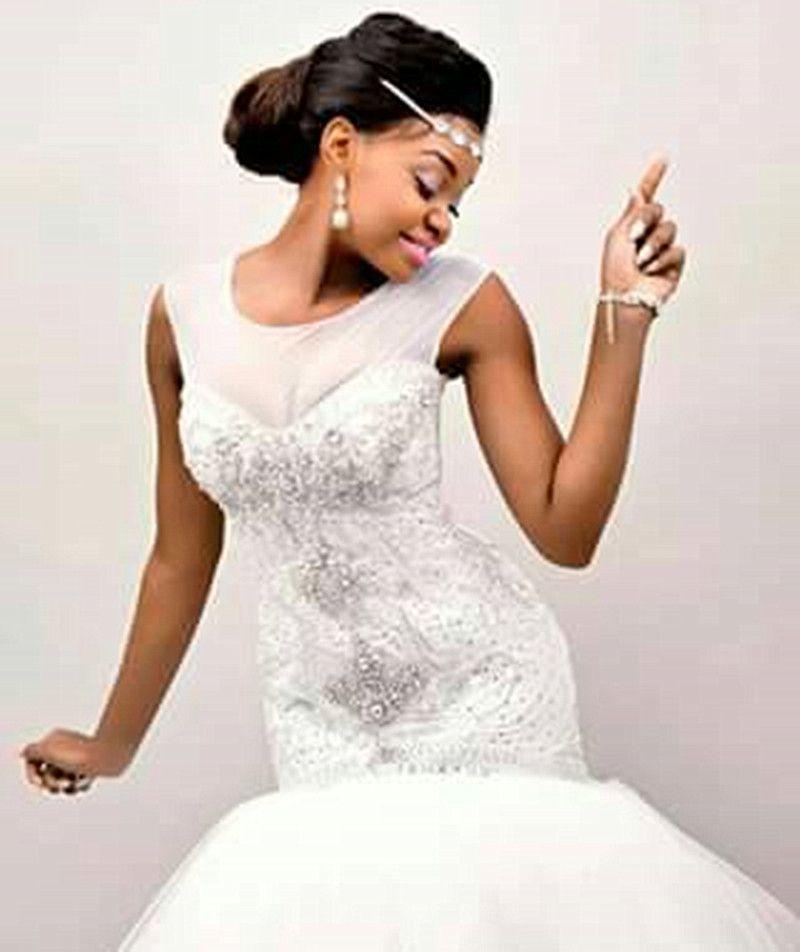 The Latest African Styles Elegant Beaded Train Mermaid