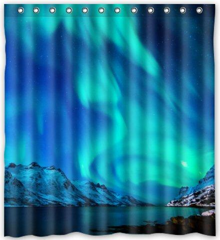 2018 Fashion Northern Lights Alaska Aurora Borealis Waterproof Fabric Bath Shower Curtain 66 X 72 From Littleman913 402