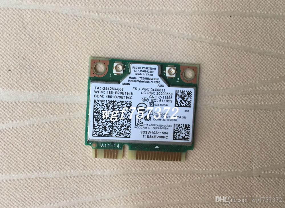 For Lenovo Y510P Y430P Wireless-N LAN Intel 7260hmw BN FRU 04X6011 Bluetooth 4.0 BT Intel Adapter Card