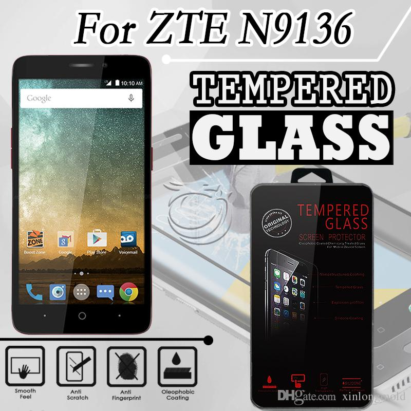 Tempered Glass For ZTE N9136 LG K8 2017 ARISTO LV3 PHOENIX 3 FORTUNE Screen  9H Protectors with retail crystal package