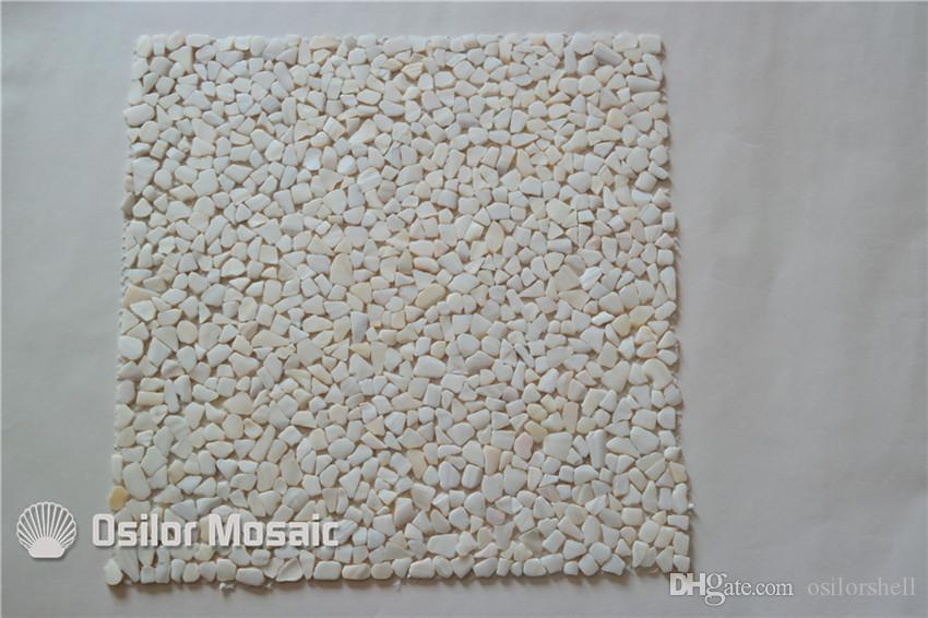 white 100% natural Chinese freshwater shell mother of pearl mosaic tile for home decoration wall tile irregular chips