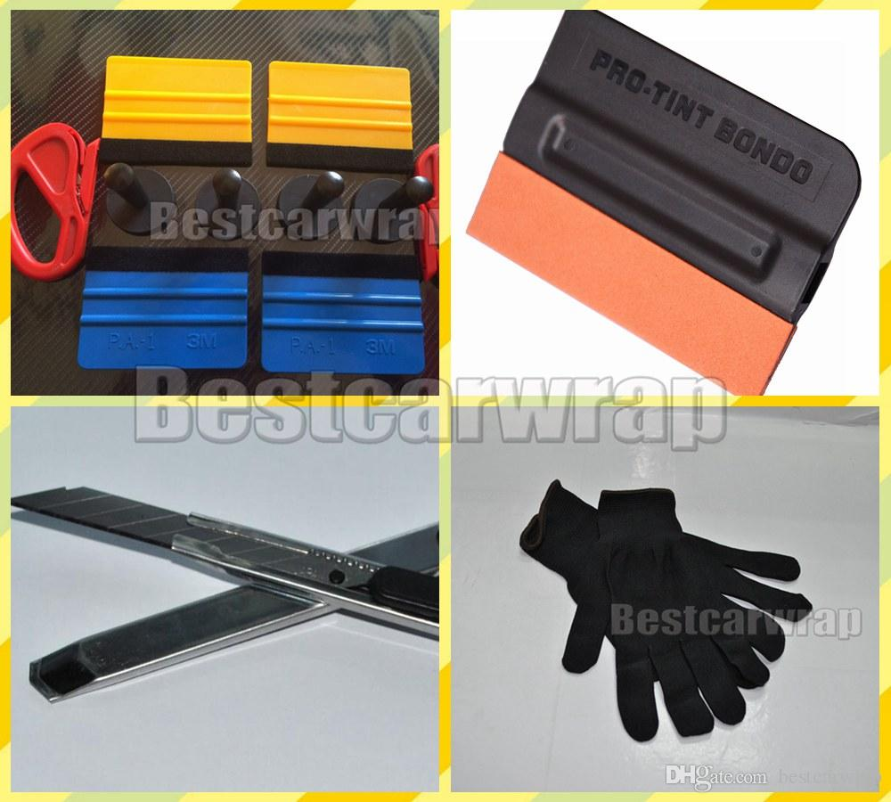 4pcs Magnet gripper / 4 pcs Squeegee 3M and 1 pcs Knifeless tape Design  Line 2 Pcs knife cutter 1 pair gloves and Knife Car wrap Tools kits