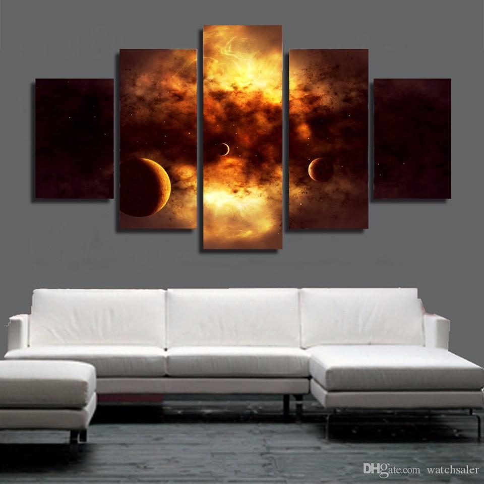 5 шт./компл. HD печатных пространство облака живопись холст печать декор комнаты печать плакат картина холст обнаженная стены искусства
