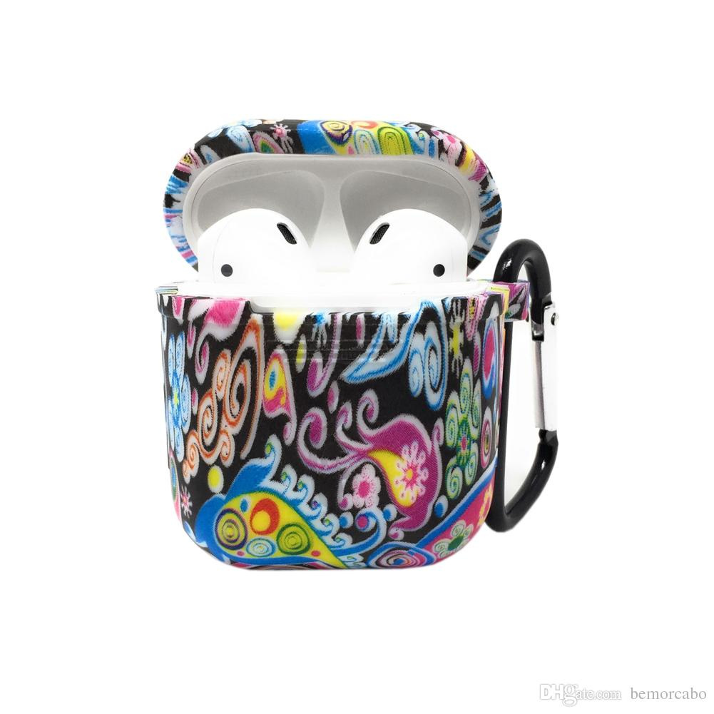 best service f311b d7141 Airpods Case, Protective Silicone Cover and Skin for Apple Airpods Charging  Case, Anti-lost, Fashionable Printing Pattern