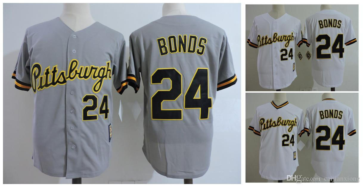 timeless design 6c1cc 91d0c pittsburgh pirates 24 barry bonds gray throwback jersey