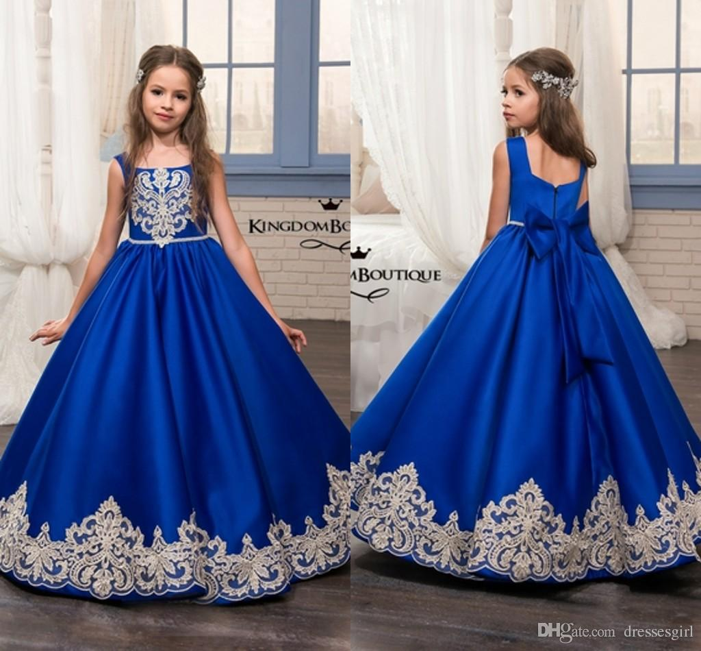 Glitz Pageant Dresses Royal Blue Little For Girls Gowns 2018 Toddler ...