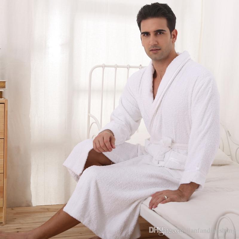 Accappatoio da uomo in cotone uomo e donna in autunno e inverno, adulto adulto, pigiama accappatoio hotel