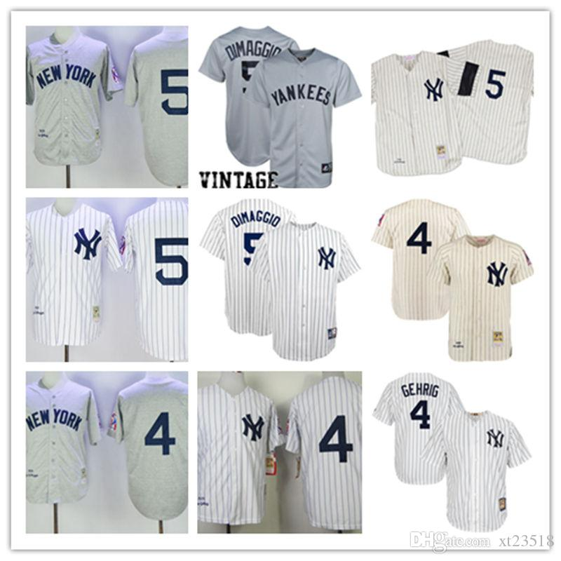 new concept 05439 7c2d0 new york yankees 4 lou gehrig 1939 gray wool throwback jersey
