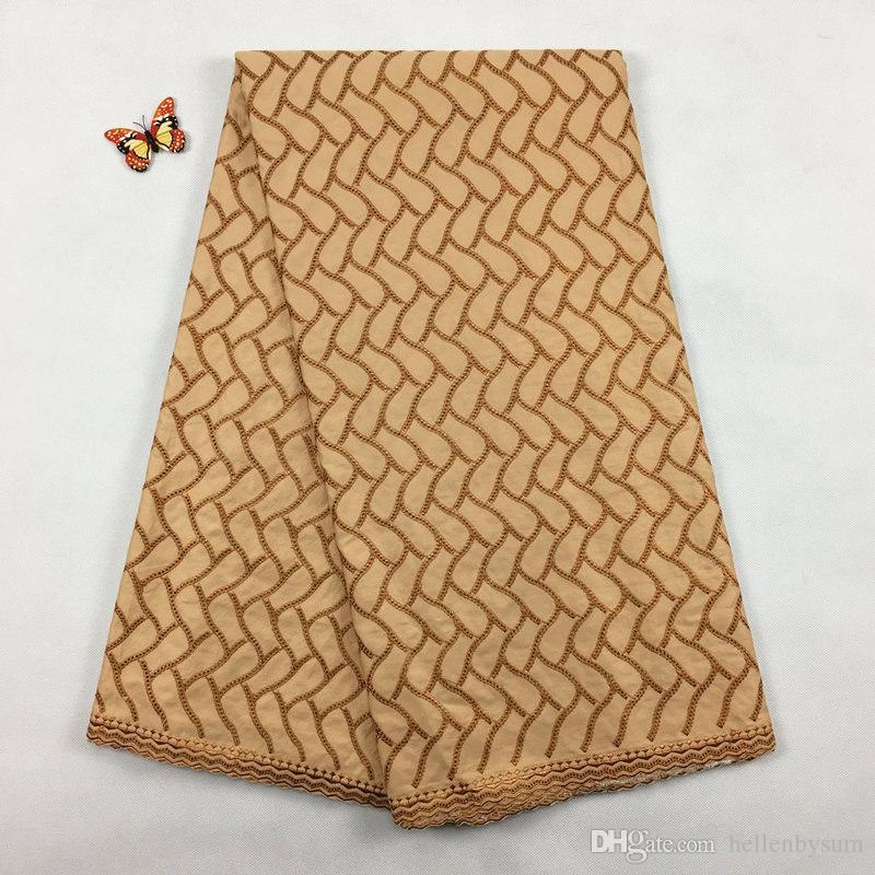 Dentelle polonaise africaine de coton de vente chaude, 2075 Livraison gratuite 5 yards / pack, 100% coton vêtements de dentelle d'hommes de noël