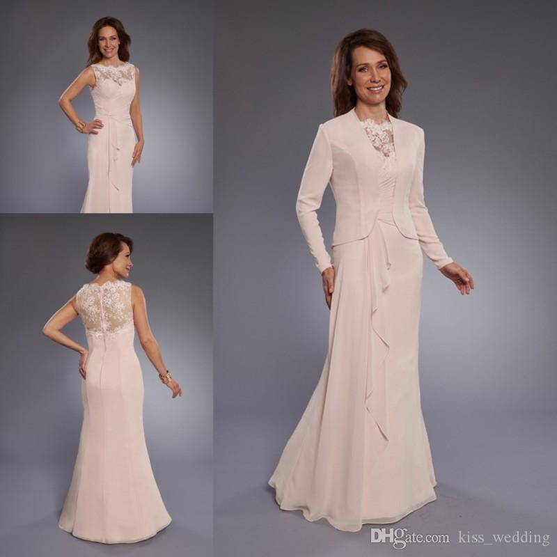 f345f765bb2 ... Jacket Long Bridesmaid Dress Illusion Back Appliqued Evening Party Gowns  Custom Quality Jasmine Mother Of The Bride Dresses Jessica Howard Mother Of  The ...