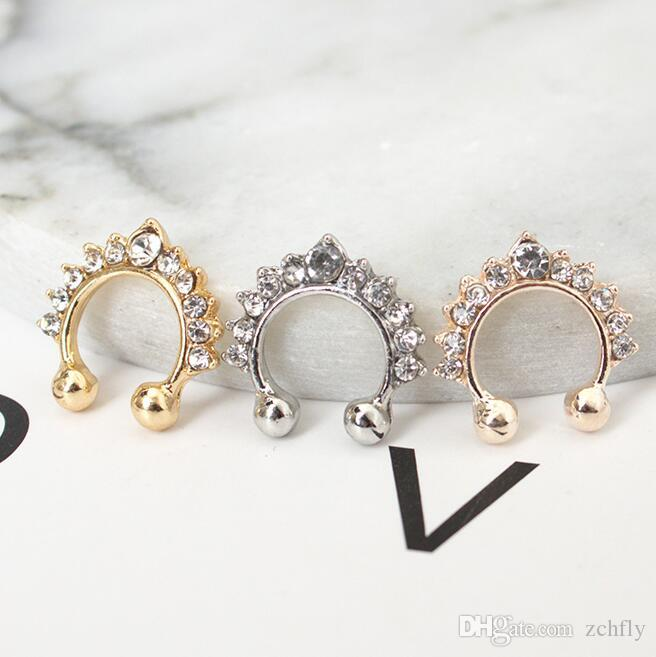 fc5c18b54 Fashion Body Jewelry Nose Ring Stud Gold Silver Rose Gold Rhinestone Nose  Jewelry Tattoo Charm Nose Circle Canada 2019 From Zchfly, CAD $7.84 |  DHgate ...