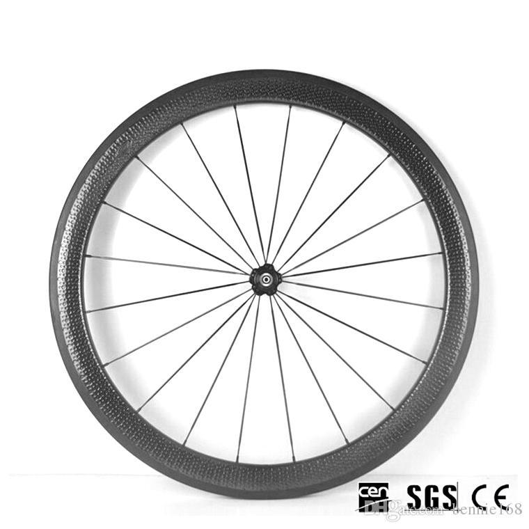 Rodamientos de cerámica Bujes Hoyuelo Ruedas 700C 50 mm Profundidad 25 mm Ancho Carbono completo Bicicleta bicicleta Ruedas Juego de ruedas UD Clincher Tubular 20/24 radios