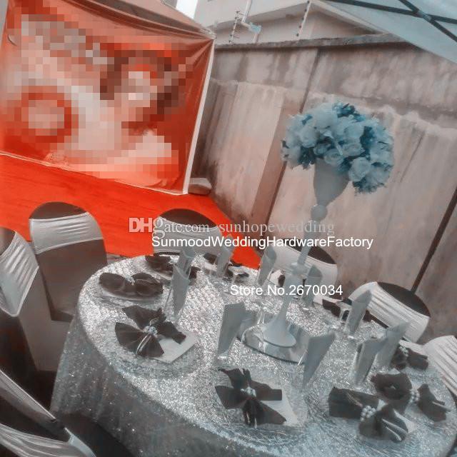 Düğün masa dekorasyon için yeni zihinsel çiçek aranjmanı standı centerpiece