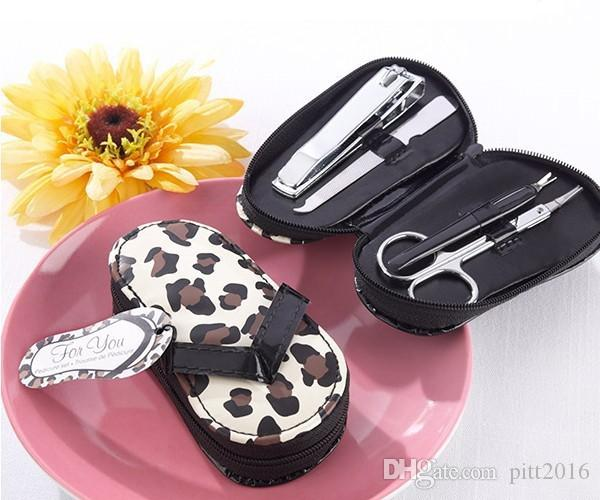 "Newest Style Wedding Favors Valentine's Gift and Bridal gifts ""Cheetah Chic"" Flip-Flop Pedicure Kit"