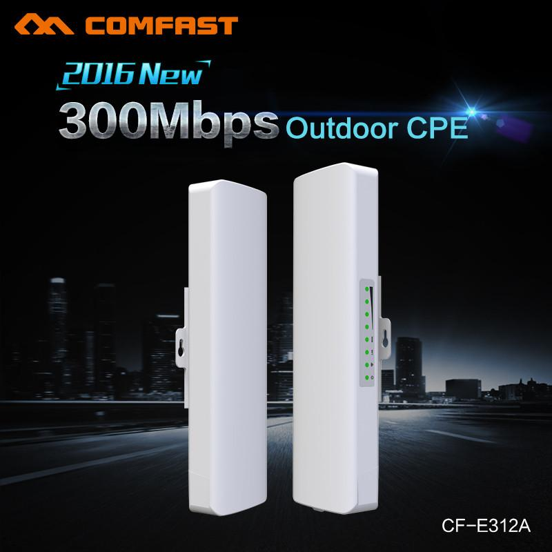 Comfast Wireless Outdoor CPE WIFI Router 5G 300Mbps 2-5KM Distance Wireless  Access Point CPE Router With POE Adapter WIFI Bridge