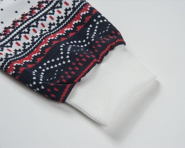 Mulheres Senhoras Camisola Longa Pulôver Top Floco de Neve Impresso Flor de Lã Hoodies Camisola Jumper Casaco