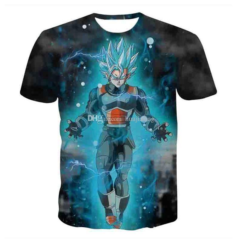 a5207565b Compre Nova Dragon Ball Z Camisetas Mens Moda Verão Impressão 3D Super  Saiyan Son Goku Preto Zamasu Vegeta Dragonball Camiseta Tops Tee De  Huajialing