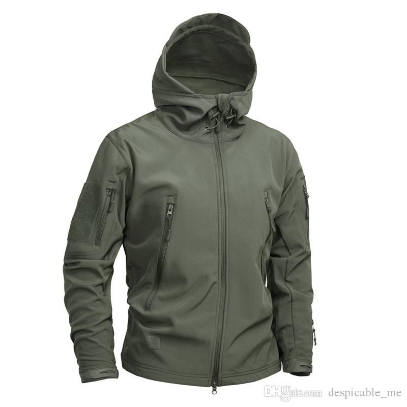 Marka Giyim Erkekler Askeri Ceket ABD Ordusu Taktik Sharkskin Softshell Sonbahar Kış Giyim Kamuflaj Ceket ve Ceket