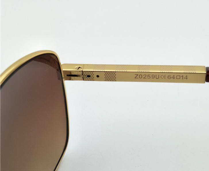 Gafas de sol para hombre Classic Square Attitude Pilote Gafas de sol negras y grises con caja nueva