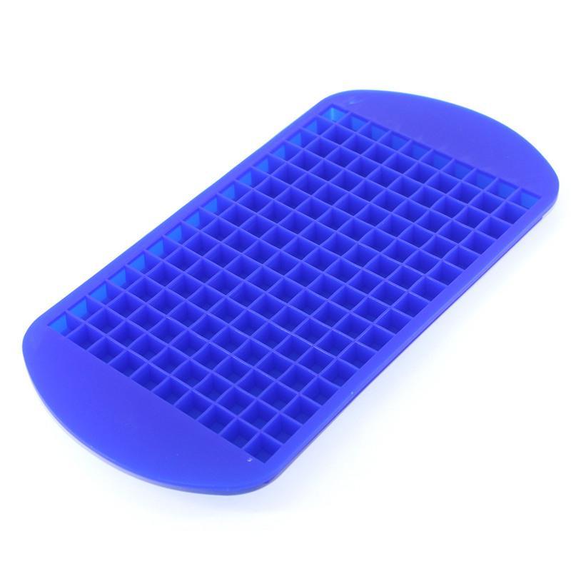 160 Grids DIY Kreative Kleine Eiswürfelform Quadratische Form Silikon Eiswürfelschale Obst Eiswürfelbereiter Bar Küche Zubehör Großhandel 0702262