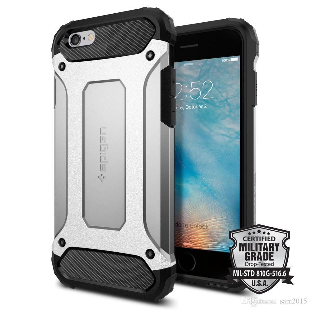 SGP Spigen Híbrido Armadura Slim Case Resistente Defensor Protetor à prova de choque para iPhone 12mini 11 Pro Max X R 7/8 PLUS S20 Note20 Plus