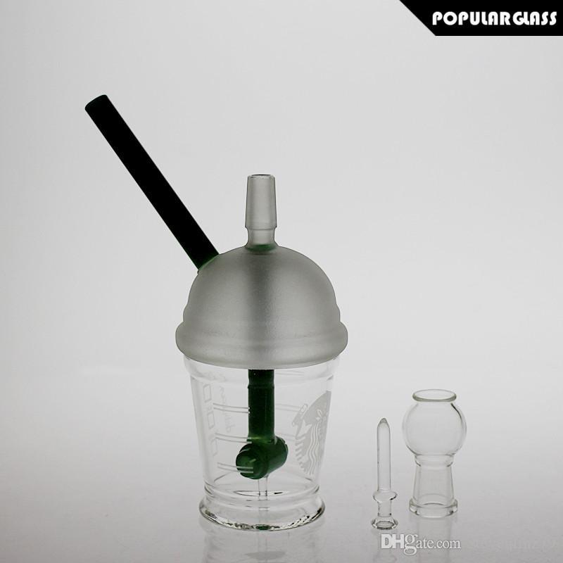 SAML Headhamer Bong Hookhs Sandblasted Starbuck Cup Palenie Szkła Wody Szkło Szkło Dyfuzja Rig Oil Rolki Złącza 14.4mm PG5037
