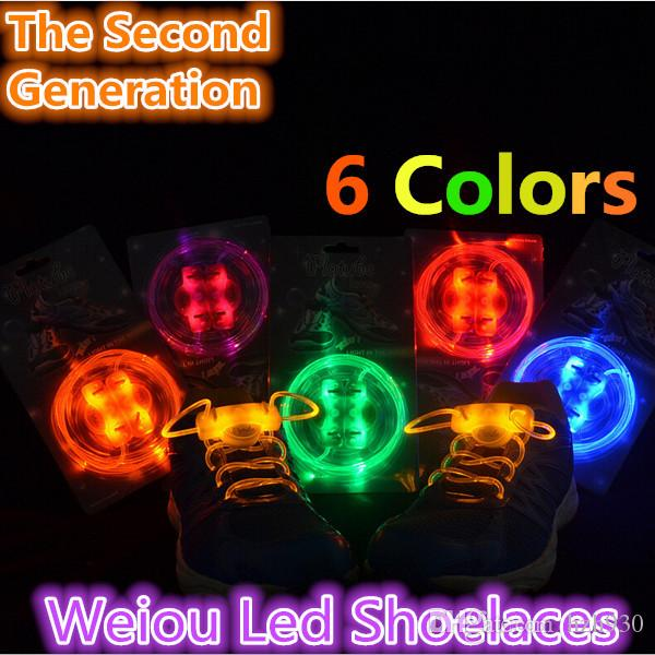 03c462d41a073 Free Shipping Party Skating Charming LED Flash Light Up Glow Shoelaces Shoe  Laces Shoestrings Battery included