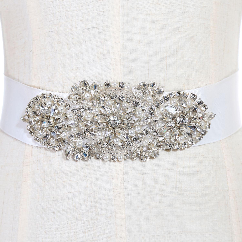 Moda nupcial Fajas y cinturones Vestido de novia Faja para la boda Con cuentas Rhinestone Crystal Wedding Belt barato CPA783