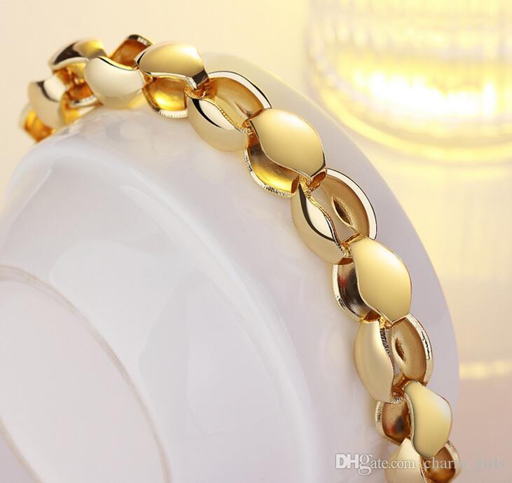 2017 المبيعات الساخنة الأقسام 18 كيلو الذهب اللوحات الكلاسيكية الخام قلادة سوار رجل امرأة 8 ملليمتر الذهب سوار قلادة مجوهرات الزفاف مجموعة