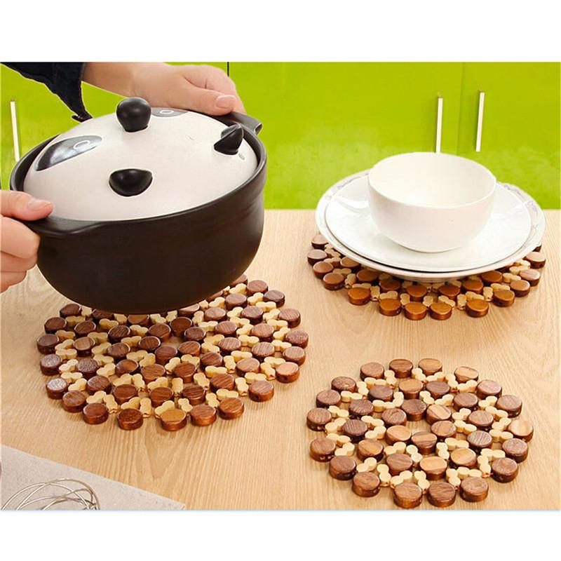 2019 Wholesale 1x Round Bamboo Placemat Insulation Pads Against Hot