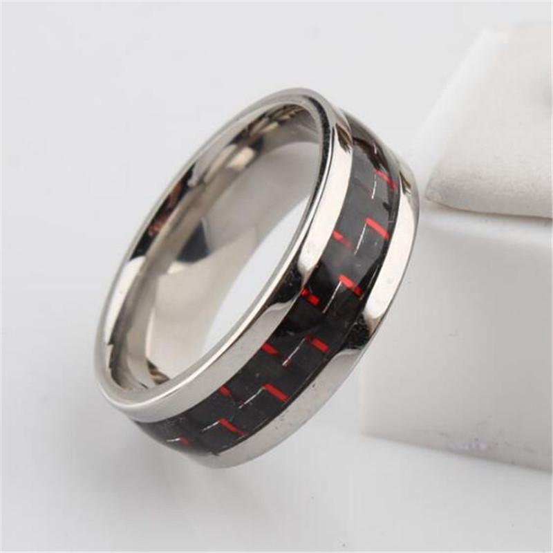 Grosshandel Verlobungsringe Finger Modeschmuck Ringe Carbon Hochzeit