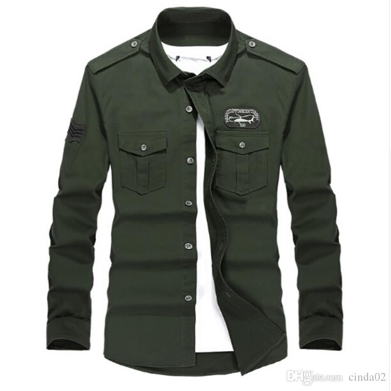 c0c76be4c31 Online Cheap Plus Size M 4xl High Quality Summer Men S Uniform Style Men  Casual Long Sleeved Shirt Leisure Long Sleeved Shirt By Cinda02