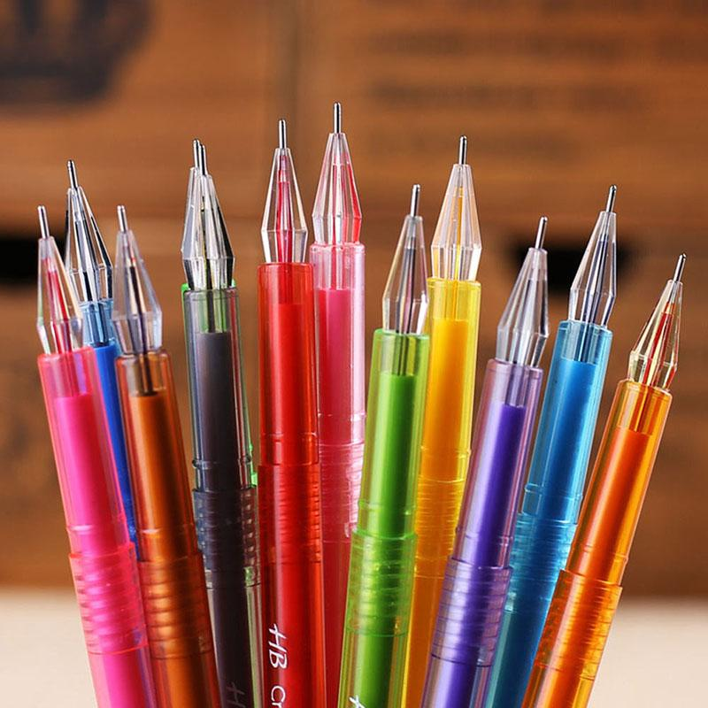 HOT Doce Cor Diamante Gel Caneta Material Escolar Desenhar Canetas Presente Do Estudante