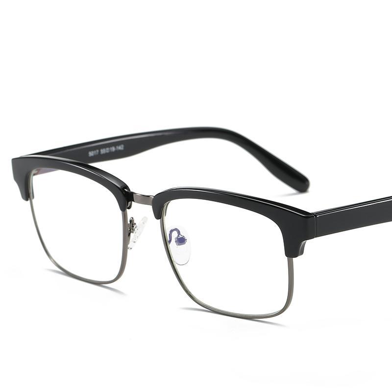 a9ffa7367da7b Compre Atacado Marca TR90 Anti Blue Ray Limpar Lens Óculos Falso Óculos De Proteção  Titanium Frame Óculos De Leitura Computador Óculos Para Mulheres Homens ...