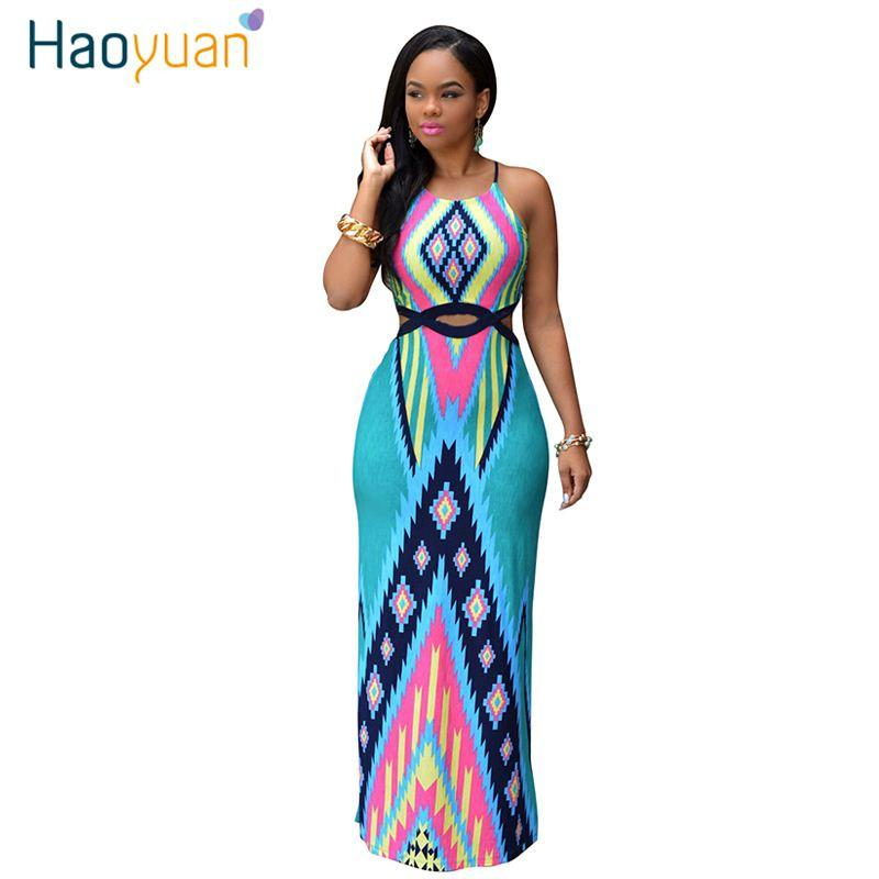 women summer long maxi dress african print sexy party dresses plus
