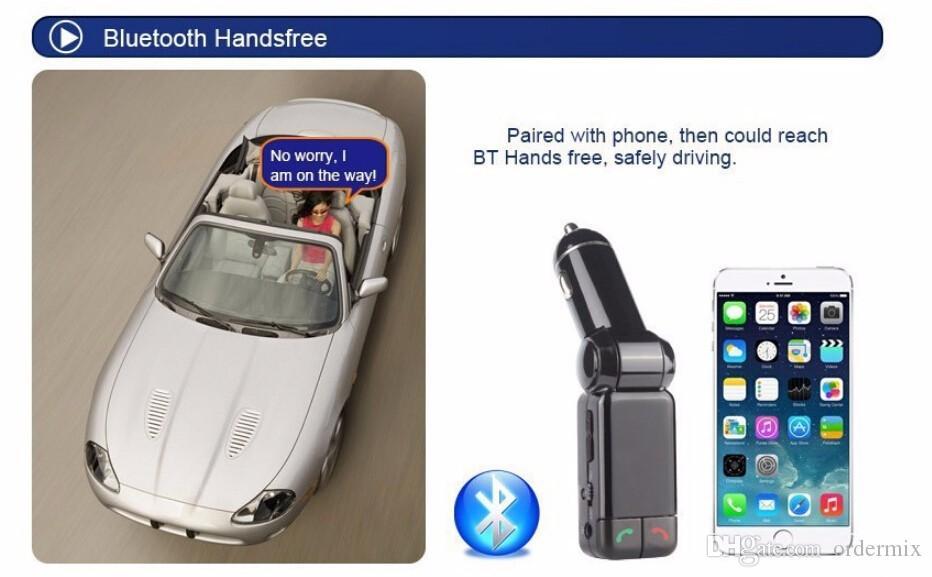 Автомобильный MP3 аудио плеер Bluetooth FM передатчик беспроводной FM модулятор автомобильный комплект громкой связи USB зарядное устройство для iPhone