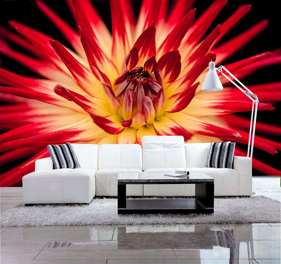 Grosshandel Benutzerdefinierte 3d Hd Fototapete Moderne Blume