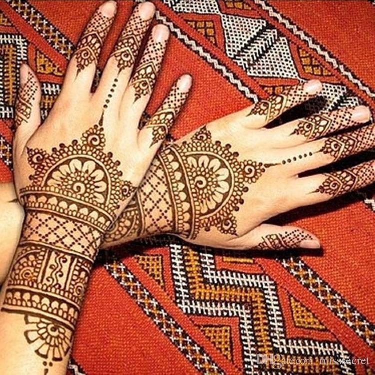 Tatouages Amovibles Body Art Peinture Mini Naturel Tatouage Indien Pâte De Henné Corps Dessin Peinture Tatouages Imperméables
