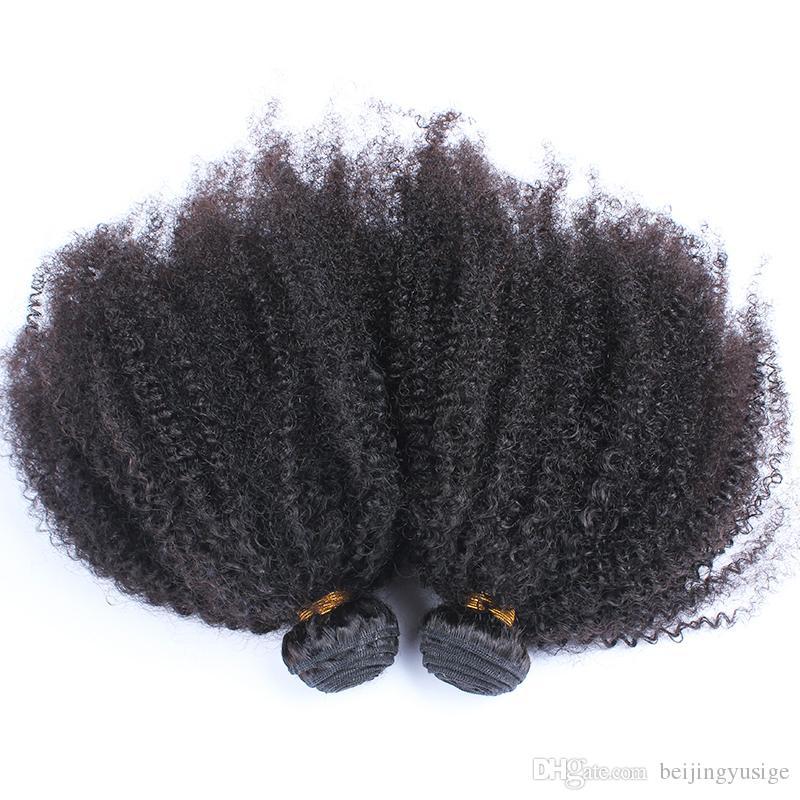 4B 4C Brazilian Afro Kinky Curly Human Hair Weave Bundles Dyeable Brazilian Virgin Hair Afro Curly Weave For Black Women
