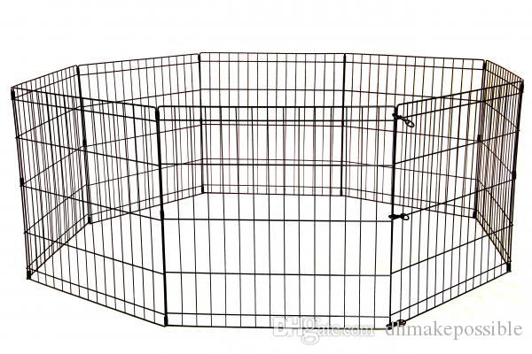 30 Inch Tall Dog Playpen Crate Fence Pet Play Pen Exercise Cage 8 Panel