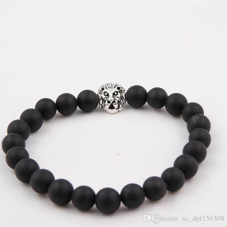 Fashion 8 Styles Natural agate, colors agate, picture stone, Frosted stone with seven color stone Beaded Lava Bracelet