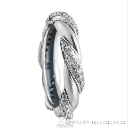 72f66fa0c RIBBON OF LOVE RING For Women Pandora Style S925 Sterling Silver Rip105H9  Diamond Wedding Bands Vintage Wedding Rings From Modernqueen, $8.68|  DHgate.Com