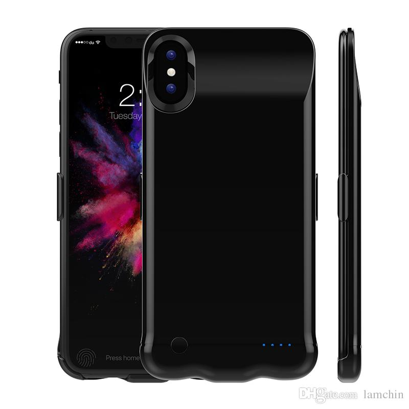 buy online 32561 11251 5000Mah 6000Mah Power Bank Charger Case Cover Mobile Phone Backup Battery  for iPhone 6 Plus 7 Plus iPhone X with Package