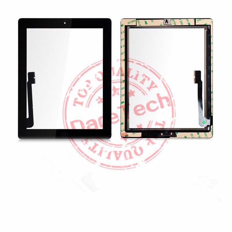 Para iPad Mini 1 2 iPad 2 3 4 iPad Air 1 2 Reemplazos de la pantalla táctil digitalizador con botón de inicio Color negro