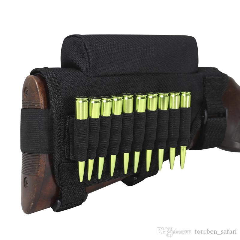 Cartridge Hunting Gun Holsters Case 5 Round Rifle Shotgun Stock Rifle Buttstock Cheek Rest Ammo Carrier Tactical Gear Holde Sports & Entertainment Hunting Bags & Holsters