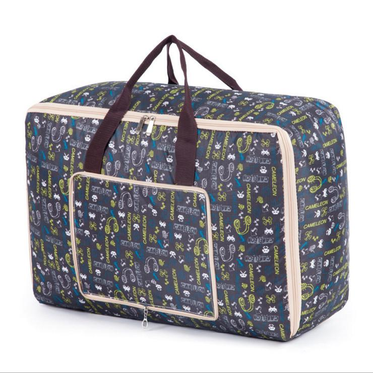Portable Foldable Oxford Zippered Quilt Storage Bag Collapsible Clothing Pillow Blanket Home Textiles Storaging Travel Luggage Organizer Bag