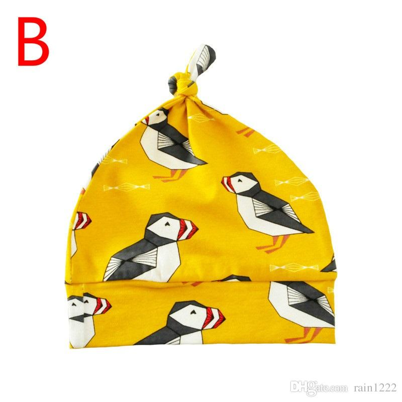 8 Styles Newborn Baby Caps Hats Babies Cartoon Animal Pattern Sleep Caps Hats With Infants Toddlers Cotton Printing Night Caps Hats Wear