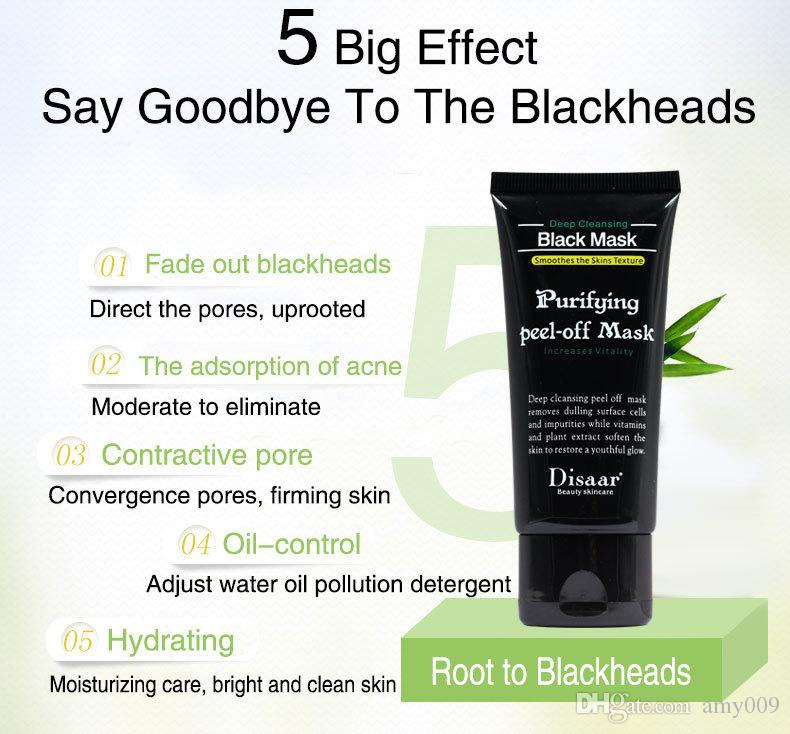 retail new DISAAR Peel-off face Masks Deep Cleansing Black MASK 50ML Blackhead Facial Mask Pore Cleaner Dyy daub mask purifying Matte Shills