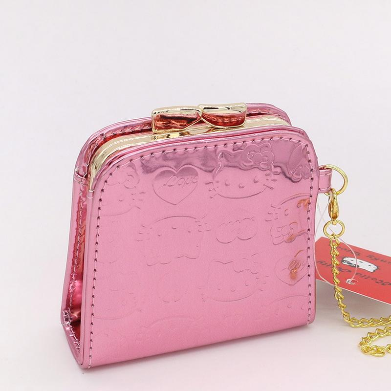 Wholesale Fashion Cute Coin Purse Hello Kitty Baby Wallet Cartoon Women  Change Purse High Quality PU Pink Hasp Mini Purse Zip Around Wallet  Handbags From ... 7bc123a2d7